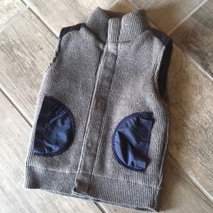 Troy James Lined Vest Gray and Navy Blue
